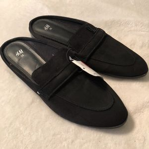 H&M h and m slip on loafer black 38